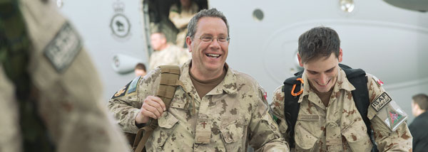 March 2014 –  Canada's last  combat troops happily return from Afghanistan.
