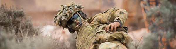 March 2016 – Soldier from 5th Battalion, Royal Australian ­Regiment, reloads weapon during Exercise Predator's Gallop.