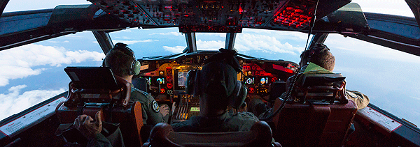 October 2016 – Cockpit view of a Royal Australian Air Force AP-3C Orion from 11 Squadron as it flies over Malaysia during Exercise Bersama Lima.